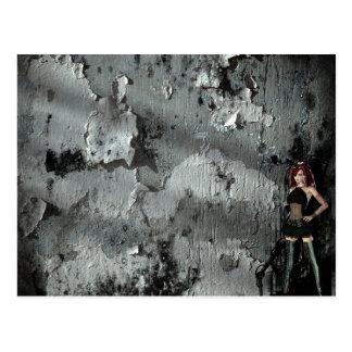 Cybergoth Industrial Gothic Girl Postcard