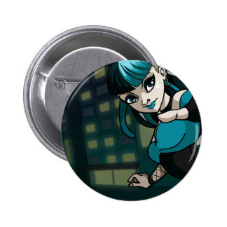 Cybergoth Pinback Button