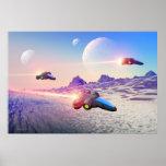 Cyberian flight 2 - scifi image print