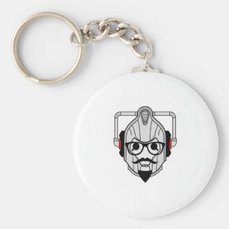 Cyberman Hipster Basic Round Button Keychain