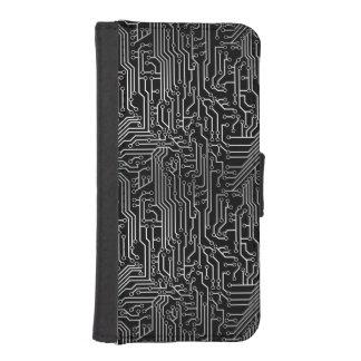 Cybernetic Circuit Board Pattern iPhone SE/5/5s Wallet