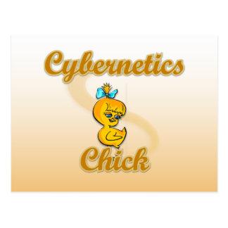 Cybernetics Chick Postcard
