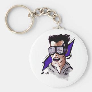 Cyberpunk Basic Round Button Keychain