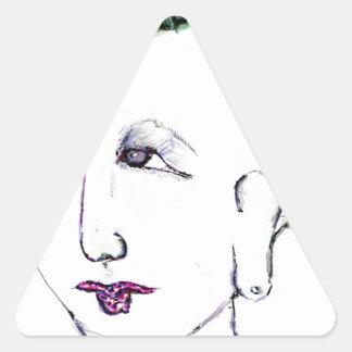 Cyberpunk Grrllzzz!!! Triangle Sticker