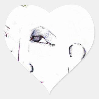 Cyberpunk Grrllzzz!!! Heart Stickers