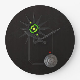 Cyberpunk LED Wall Clock Large