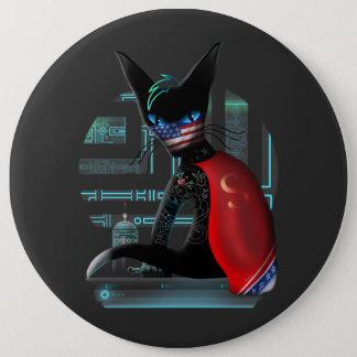 Cyberpunk Ninja Cat Button