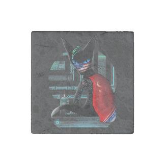 Cyberpunk Ninja Cat Stone Magnet