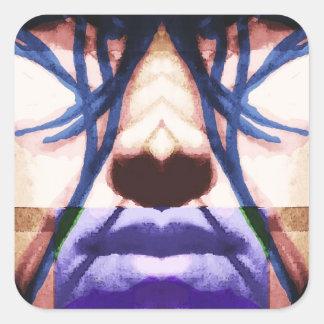 cyberpunk square stickers