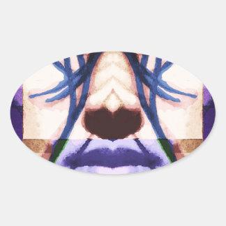 cyberpunk oval sticker