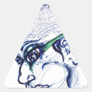 cyberPunk Triangle Sticker