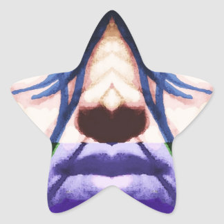 cyberpunk star sticker
