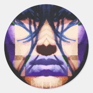 cyberpunk round stickers