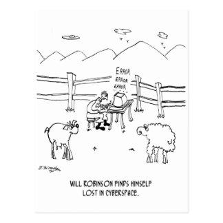 Cyberspace Cartoon 6736 Postcard