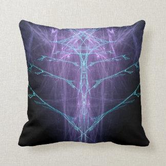 CYBERSPINE Tech Fractal Pattern Throw Pillow