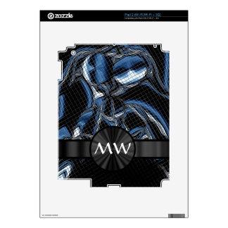 Cyborg abstracto moderno azul iPad 2 calcomanía