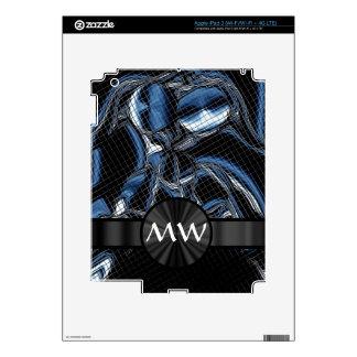 Cyborg abstracto moderno azul pegatina skin para iPad 3