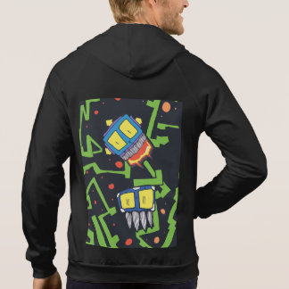 Cyborg alien creatures invade sleeveless sweater