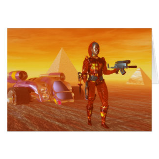 CYBORG ARES IN DESERT HYPERION Science Fiction Card