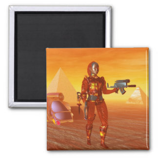 CYBORG ARES IN DESERT OF HYPERION Science Fiction Magnet