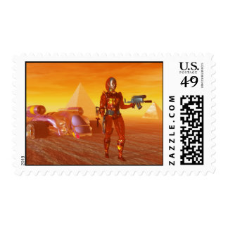 CYBORG ARES IN DESERT OF HYPERION Science Fiction Postage
