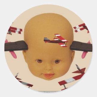 Cyborg Baby Air Brigade Classic Round Sticker