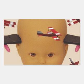 Cyborg Baby Air Brigade Rectangular Sticker