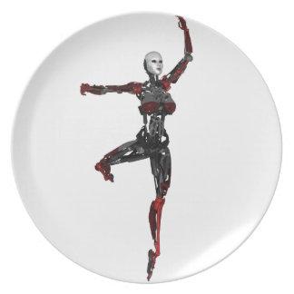 Cyborg Ballet En Pointe Dinner Plate