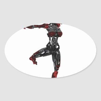 Cyborg Ballet En Pointe Oval Sticker