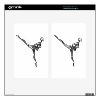 Cyborg Ballet in Arabesque Decals For Kindle Fire