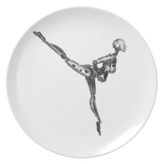 Cyborg Ballet in Arabesque Plate