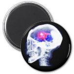 Cyborg Brain 2 Inch Round Magnet