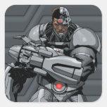 Cyborg Calcomanía Cuadradase