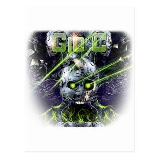 cyborg-camiseta postales