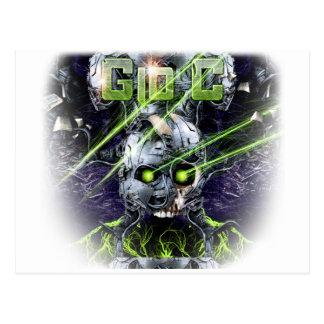 cyborg-camiseta postal