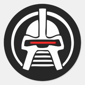 Cyborg Classic Round Sticker