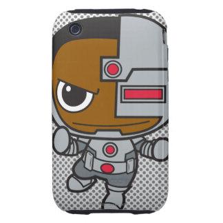 Cyborg de Chibi Tough iPhone 3 Fundas
