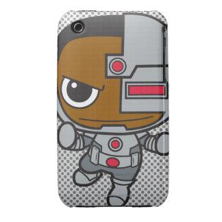 Cyborg de Chibi iPhone 3 Case-Mate Cárcasa
