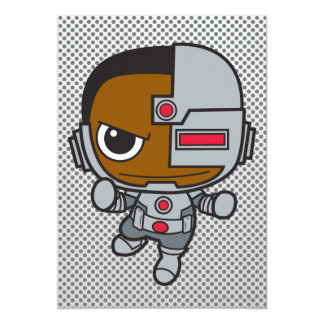 Cyborg de Chibi Invitación 12,7 X 17,8 Cm