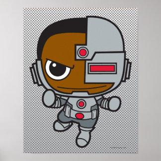 Cyborg de Chibi Posters