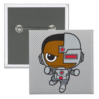 Cyborg de Chibi Pin Cuadrado