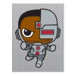 Cyborg de Chibi Tarjeta Postal