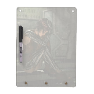 Cyborg Female Sci-Fi Fantasy Art Dry Erase Board