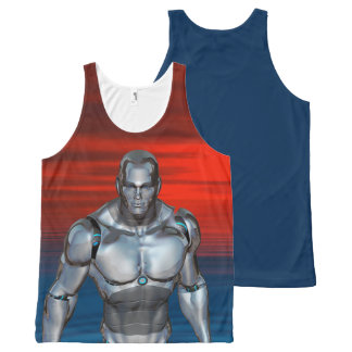 Cyborg - Futuristic Robot All-Over-Print Tank Top