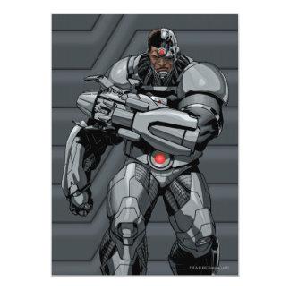 """Cyborg Invitación 5"""" X 7"""""""