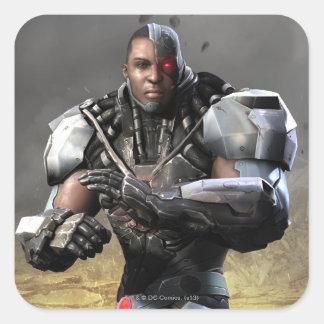 Cyborg Pegatina Cuadrada