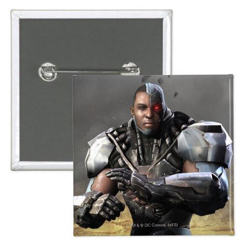 Cyborg Pin Cuadrado