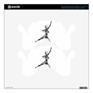 Cyborg Robot in Jete Form Decal For PS3 Controller
