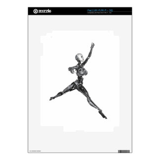 Cyborg Robot in Jete Form Decal For The iPad 2