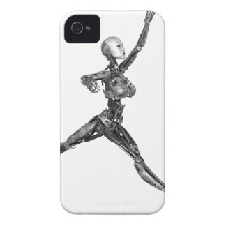 Cyborg Robot in Jete Form iPhone 4 Case-Mate Case